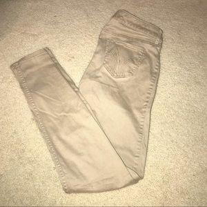 Skinny fit khaki pants- Hollister